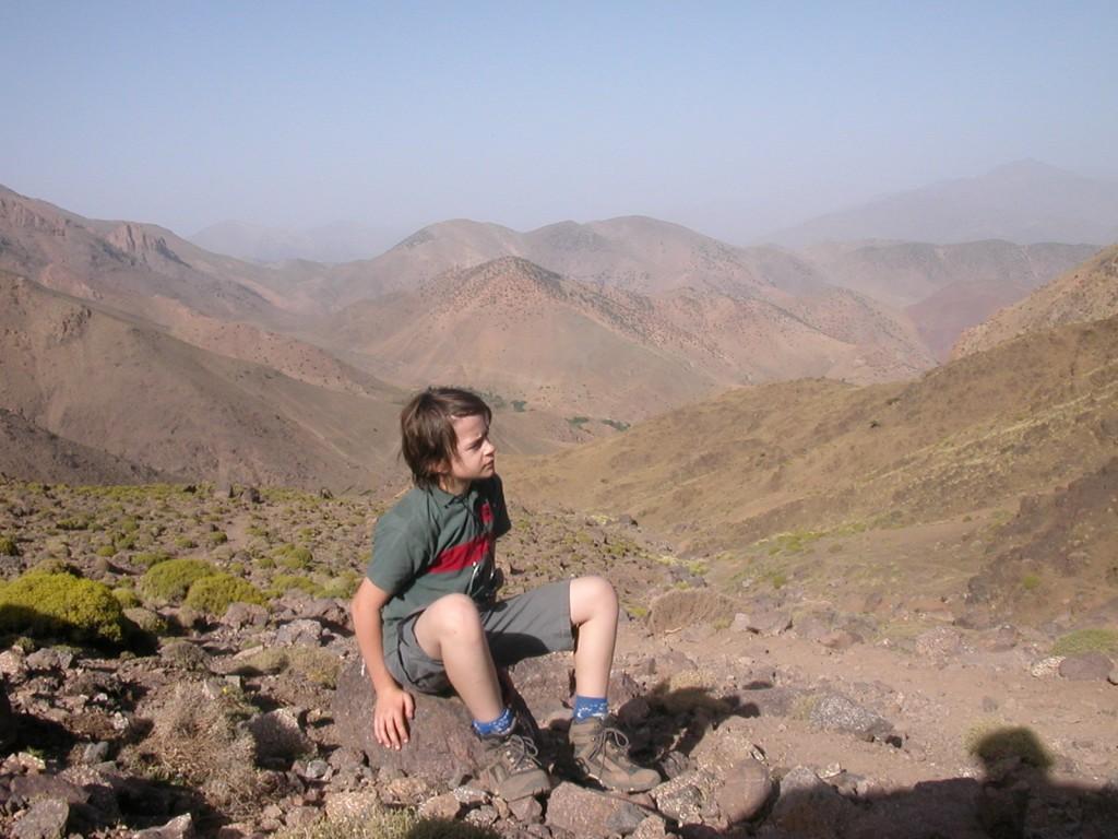 Lors d'un trek au Toubkal, Maroc