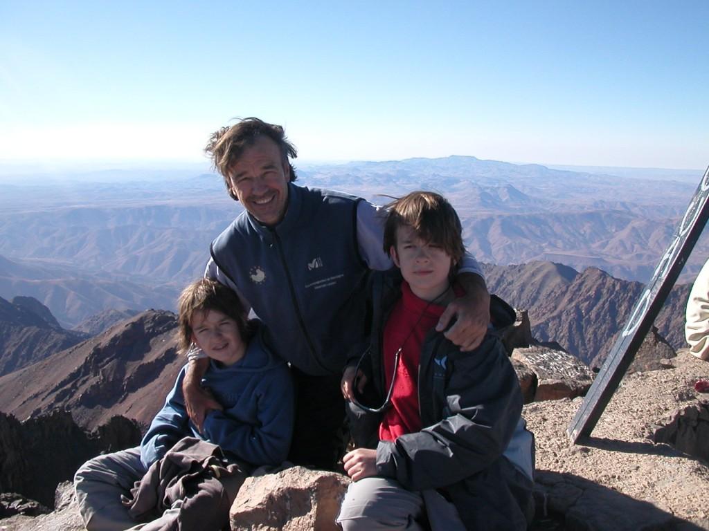 12 ans au sommet du Toubkal 4167 mètres, Maroc