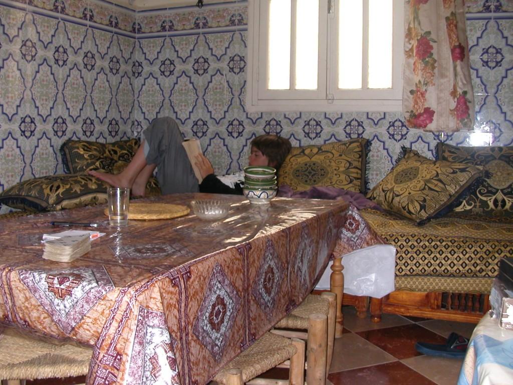 Repos au gîte de Slimane à Imlil, Maroc